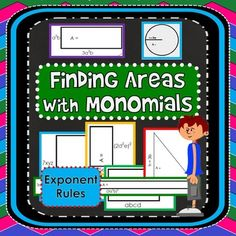 """Algebra students connect what they already know about finding areas of shapes to finding """"areas"""" of rectangles, triangles and circles with monomial side lengths. In this activity, students find the areas of rectangles, triangles and circles by multiplying terms with exponents, practicing """"exponent times exponent"""" and """"exponent raised to an exponent""""."""