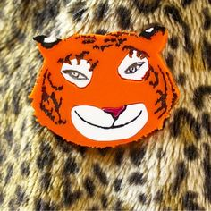 Acrylic Perspex Laser Cut 'The Tiger who came to tea' brooch