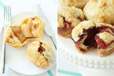 Take a whole pear, peach, or plum, and build a mini pie around it!