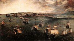 Pieter Bruegel the Elder, View of the port of Naples, 1556 ca.
