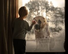 Russian Mother Continues To Take Magical Photos Of Her Two Kids With Animals On Her Farm | Bored Panda