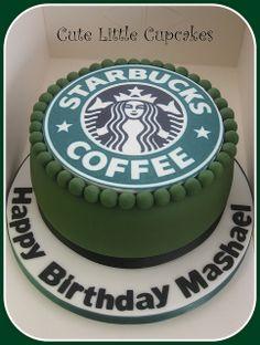 Starbucks themed cake