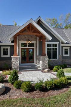 lake house Home design ideas craftsman exterior colors 20 super Ideas Bed sh House Siding, House Paint Exterior, Exterior House Colors, Exterior Design, Craftsman Exterior Colors, Outdoor House Colors, Outside House Colors, Siding Colors For Houses, Rustic Houses Exterior