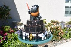Star Wars Paper Cake - each slice is a favor box filled with treats!