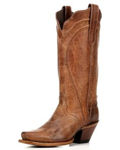 Ladies'  Inca Goat Acento Western Boots. Love the clean lines and cracked leather.