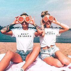 Best Friends T shirt Women T-shirt Summer Short Sleeve Sister Bff T Shirt Women Tshirt Top Black White Cotton Tee Shirt Femme – Funny Photo İdeas Bff Pics, Photos Bff, Cute Friend Pictures, Cute Photos, Sister Pics, Funny Pictures, Insta Pictures, Beach Photos, Beautiful Pictures