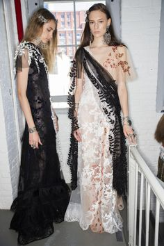 See beauty photos for Rodarte Spring 2016 Ready-to-Wear collection.