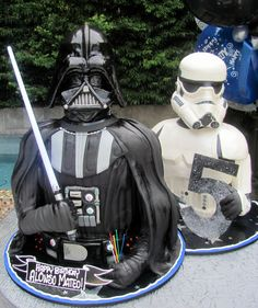 3-D Darth Vader & Storm Trooper. Best. Cakes. Ever!!!!!