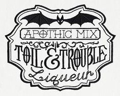 Gothic And Dark | Urban Threads: Unique and Awesome Embroidery Designs