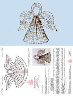 Bobbin lace 3 d Bobbin Lace Patterns, Crochet Patterns, Bobbin Lacemaking, Lace Art, Crochet Angels, Star Quilt Patterns, Holiday Crochet, Lace Jewelry, Needle Lace