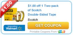 $1.00 off 1 Two-pack of Scotch Double-Sided Tape