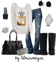 """Casual & Comfy"" by lilmissmegan on Polyvore"