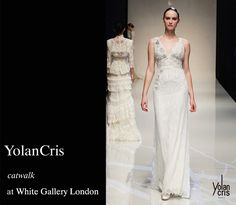 Images from YolanCris catwalk at White Gallery London 2013.  Couraçao bridal gown · YolanCris collection 2014. #wedding #dress