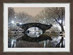 Art Print: Bridge in Winter : Winter Art, Twilight, Find Art, Framed Artwork, Bridge, Art Prints, Poster, Beauty, Bro