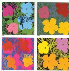 Who is Andy Warhol and what is Pop Art? You'll want to begin by showing your children Andy's playful flowers. spring is just around the corner, so I decided to use Andy Warhol's vibrant flower lithographs as inspiration for my project.