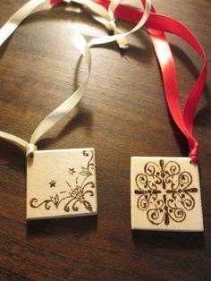 Segnalibro pirografato con elementi decorativi, by Atelier La Rosa Blu, 5,00 € su misshobby.com