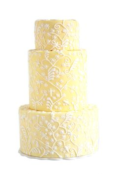 #Pastel yellow wedding ... Pale yellow wedding cake ... Wedding ideas for brides, grooms, parents & planners ... https://itunes.apple.com/us/app/the-gold-wedding-planner/id498112599?ls=1=8 … plus how to organise an entire wedding ♥ The Gold Wedding Planner iPhone App ♥