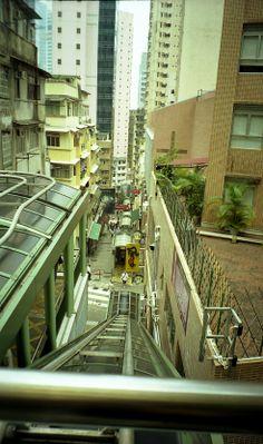 Really long escalator. Hong Kong 2004
