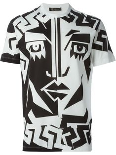 Versace Camiseta Estampada - Luisa Boutique - Farfetch.com