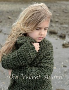 CROCHET PATTERN-The Thurston Sweater 2 3/4 5/7 8/10