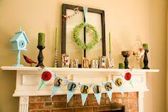 Spring Mantle - wreath & frame