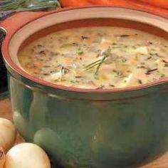 Hobbit Soup-mushroom and wild rice Yumm!
