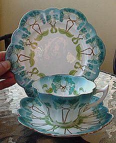 Shelley Wileman Art Nouveau Trio Cup Saucer Plate