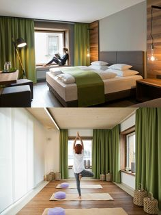 Stadthotel Brunner in the Schladming-Planai-Dachstein/Ski amadé ski region. The barrier-free design hotel with Yoga and Ayurveda offer in Schladming Simple Elegance, Room Interior, Yoga, Bed, Furniture, Design, Home Decor, Homemade Home Decor, Stream Bed