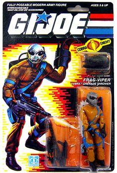 "GI Joe Hasbro 3 3/4"" Vintage Action Figure Frag-Viper [Version 1]"