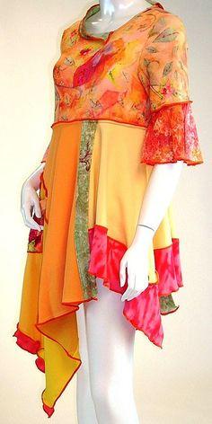 Tangerine Watercolor Cool Breeze Tunic, Size Medium (8-10-12) | Flickr - Photo Sharing!