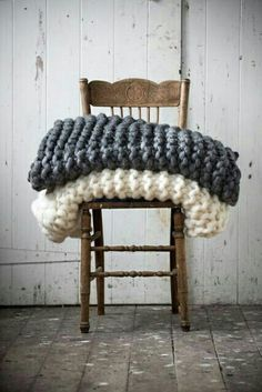chunky knit blankets.