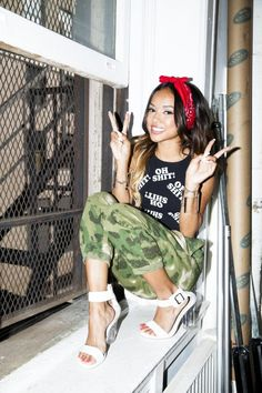 Karrueche Tran Keeps It West Side Glam For Karmaloop Photo Shoot