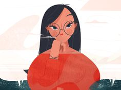 Daydream by Mila Spasova on Dribbble Character Drawing, Character Illustration, Character Design, Wallpaper Doodle, Cute Wallpaper Backgrounds, Illustration Vector, Woman Illustration, Doodle Art, Daydream
