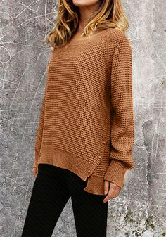 Raglan Knitted Sweater - Top