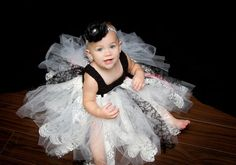 Girls Tutu Dress, Lace and Ribbon Tutu Dress, Pageant Dress
