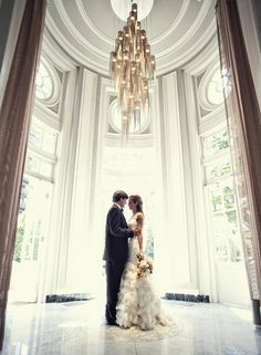 Stunning bride and groom shot
