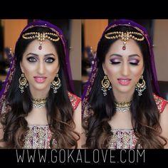 Makeup and hair for bride's Mehndi! Boston Massachusetts Makeup Artist, Hairstylist, Indian Wedding, Pakistani Wedding