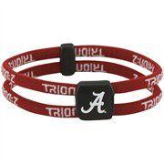 Alabama Crimson Tide Double Loop Trion-Z Bracelet - Crimson