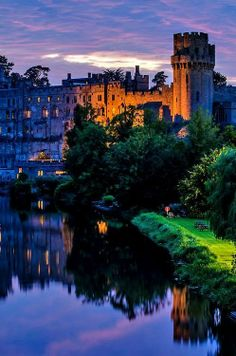 Borrowing this from the Castles Ever After board.  Note to self: write a scene where someone is coming up on a castle at night, admiring the play of light over the stone walls.