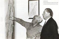 1950: Washingtonian Abraham S. Kay (right) was one of 44 American Jews invited to Israel by Prime Minister David Ben-Gurion (left) to form the Development Corporation for Israel (now known as Israel Bonds).