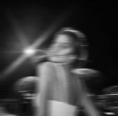 Retro blurry girl