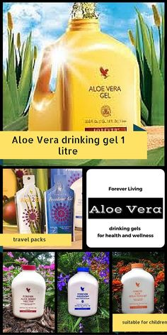 Aloe Vera drinking gels 1 litre in size. Aloe Vera is great for comforting the gut, clears the digestive system out, helps to boost the immune system and kick start the metabolism. Orange bottle is pure 100% stabilised aloe vera gel. Forever Freedom (blue) contains glucosamine, MSM and Chondroitin ideal for anyone with joint issues. Berry Nectar (red) contains cranberry and apple and is great for anyone with kidney issues, and finally for our children Bits 'n' Peaches.
