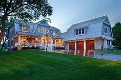 Classical Nantucket Dream Home - coastal - Exterior - Minneapolis - Hendel Homes Coastal Farmhouse, Coastal Cottage, Coastal Homes, Coastal Living, Modern Farmhouse, Coastal Rugs, Coastal Decor, Cottage Bath, Coastal Curtains