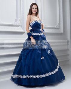 http://www.trouws.com/feestjurken-c4 baljurk lieverd mouwloze vloer lengte borduursels tule taft gala Quinceanera jurk - €163.88 , Trouws.com