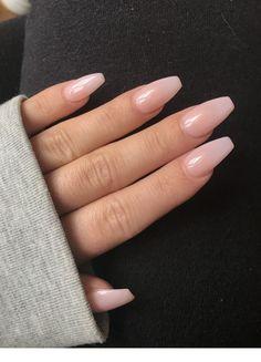Winter lange rosa Nägel #skincare Winter lange rosa Nägel |