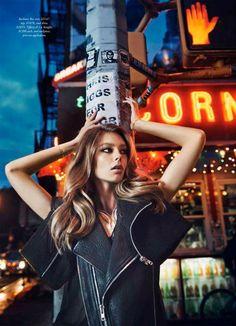 Harpers Bazaar Australia September 2014 | Ondria Hardin by David Mandelberg [Editorial] #street #fashion #editorial