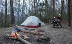 My first time motocamping.