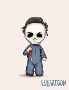 Creepy Drawings, Dark Art Drawings, Halloween Drawings, Halloween Art, Cute Drawings, Voodoo Doll Tattoo, Horror Cartoon, Horror Drawing, Doll Drawing