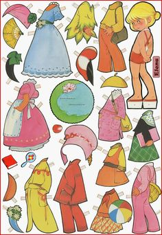ELENA  Paper Doll by Spanish illustrator Maria Pascual (01.07.1933-13.12.2011)  for children's books painted in the last century for Toray Publishing