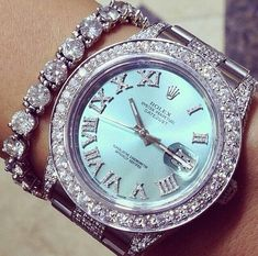 Rolex, watch and diamond